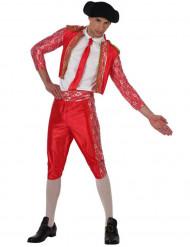 Costume da torero rosso e bianco uomo