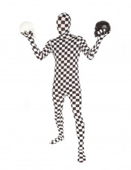 Costume Morphsuits™ a scacchi adulto