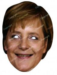Maschera di cartone da Angela Merkel