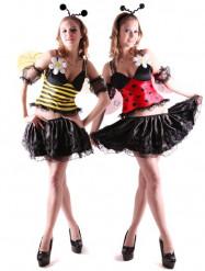 Costume reversibile ape e coccinella donna