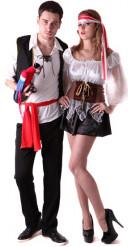 Costume coppia pirati amanti per adulto