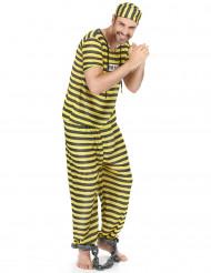 Costume carcerato giallo uomo