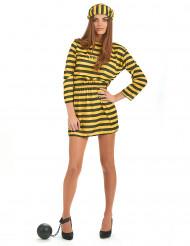 Costume carcerata giallo donna