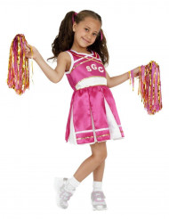 Costume ragazza pompon bambina satinata