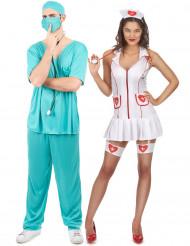 Costume coppia infermiera e dottore