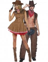 Costume coppia cowgirl e cowboy