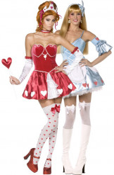 Costume coppia Regina di Cuori e Alice Rebel Toons
