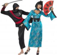 Costume coppia cinesina e ninja