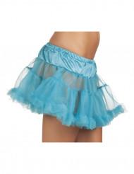 Sottogonna blu in tulle donna