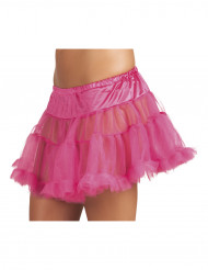 Sottogonna rosa in tulle donna