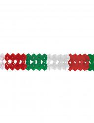 Ghirlanda bianca rossa e verde