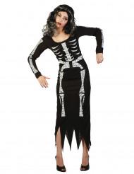 Costume scheletro adulto per donna
