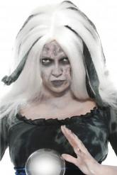 Parrucca bianca veggente Halloween donna