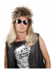 Parrucca pop rock bionda uomo