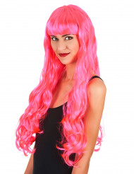 Parrucca lunga rosa da sirena per donna