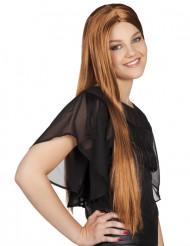 Parrucca marrone lunga donna
