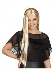 Parrucca bionda capelli lunghi donna