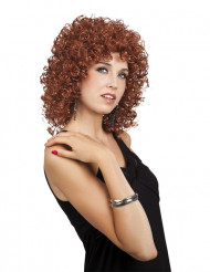 Parrucca riccia marrone donna