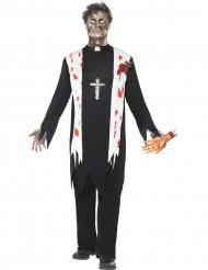 Costume prete religioso zombie uomo