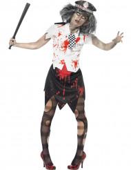 Costume poliziotta zombie Halloween donna