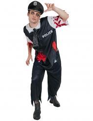 Costume poliziotto zombie adulto Halloween