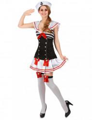 Costume marinaio donna con giarrettiere