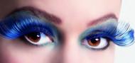 Ciglia finte lunghe blu adulto per donna