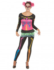 Costume scheletro adulto donna Halloween