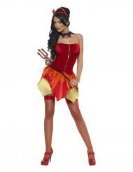 Costume reversibile angelo e diavolessa sexy donna Halloween