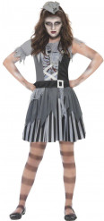 Costume pirata fantasma Halloween bambina