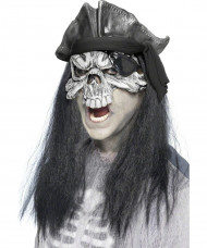 Maschera fantasma pirata Halloween adulti