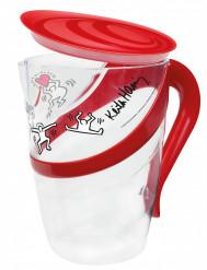 Set brocca + 4 bicchieri Keith Haring™