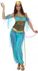 Costume danzatrice araba blu adulto
