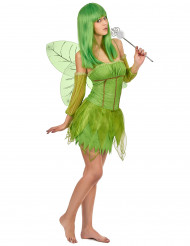 Costume fata verde adulto
