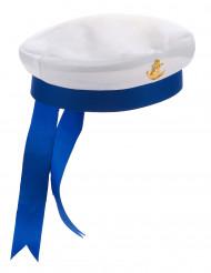 Cappello da marinaio bianco e blu per adulto