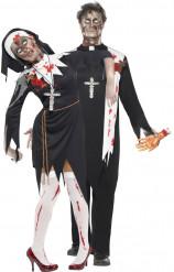 Costume prete e suora zombie Halloween