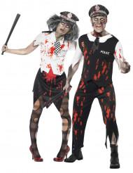 Costume coppia poliziotti zombie Halloween