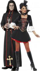Costume coppia monaco e vampiro donna Halloween