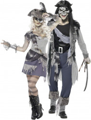 Costume coppia pirata fantasma Halloween