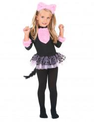 Costume gatto nero e rosa per bambina