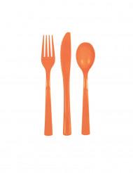 Posate di plastica arancioni