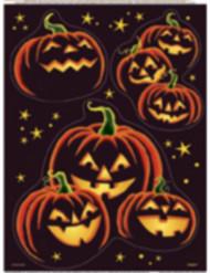 Adesivi per finestre zucca nera Halloween