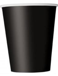 8 bicchieri neri