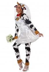 Costume mucca sposa adulti