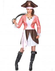 Costume pirata donna rosa