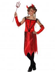 Costume rosso da diavolessa bambina