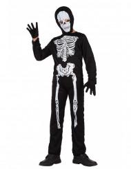 Costume tuta da scheletro bambino