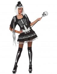 Costume scheletro adulto sexy donna