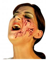Finte ferite viso adulto