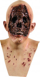 Maschera pelle bruciata adulto Halloween